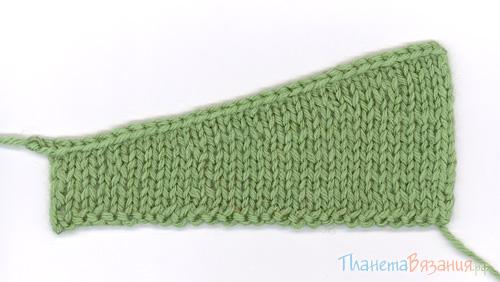 планета вязания вязание укороченными и увеличенными рядами