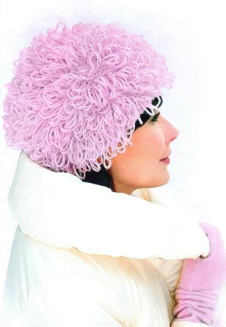 Шикарная шапочка из вязаного меха