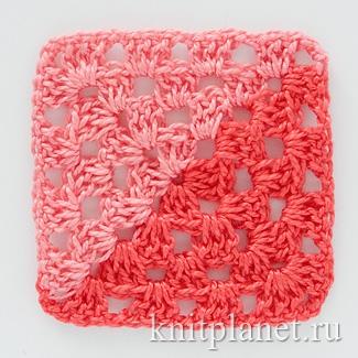 Двухцветный бабушкин квадрат