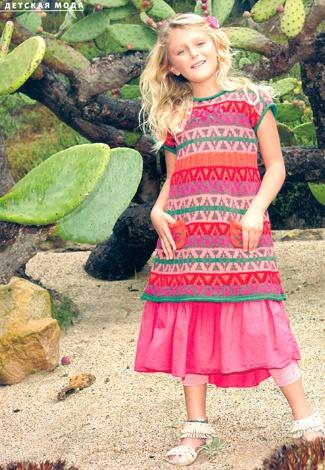 Verena, весна, 2013, вязаное платье для девочки