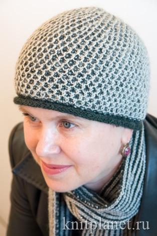 Схема вязания женской шапки спицами бесплатно