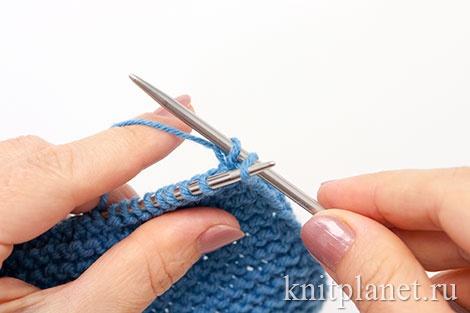 Уроки вязания спицами для начинающих, часть 5. Закрытие ряда, этап 2.