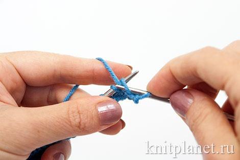 Уроки вязания спицами для начинающих, часть 7. Изнаночная петля вторым способом.