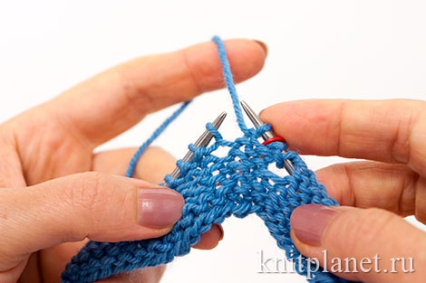 Уроки вязания спицами для начинающих, часть 9. Скрестить накид