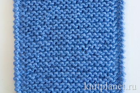 Обвязка способом Рачий шаг планки, связанной платочной вязкой