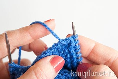 Вязание пинеток двумя спицами для начинающих, этап 5.