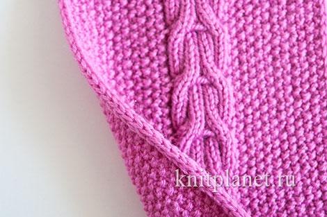 Отделка бокового края шарфа. Утолщенный боковой край