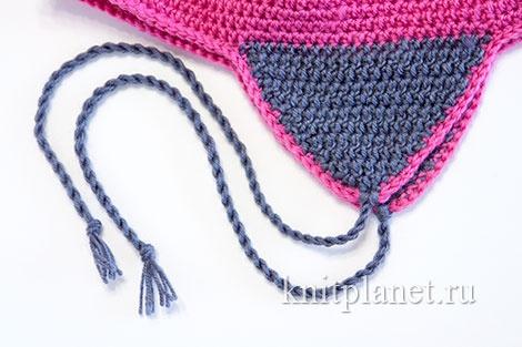 Как сделать шнурки-завязки для шапки