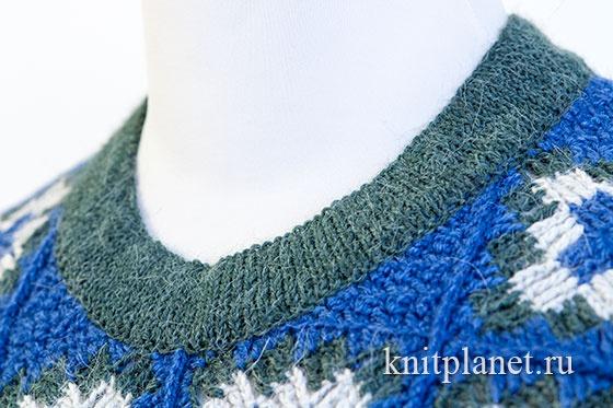 Вязание красивой круглой горловины.