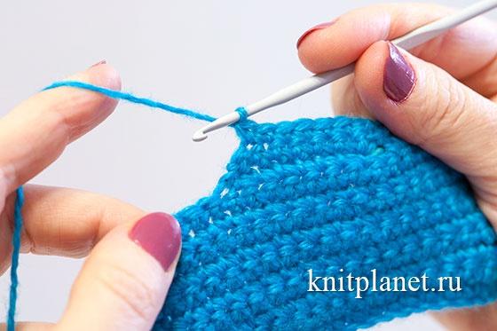 Вязание пятки крючком
