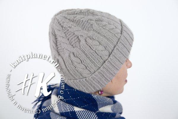 Женская шапка спицами. Мастер-класс по вязанию, в том числе видео