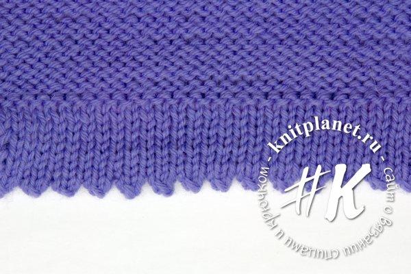 Подгибка низа вязаного изделия без шва