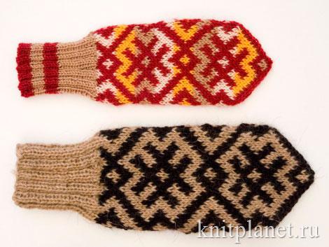Размеры рукавиц в зависимости от пряжи