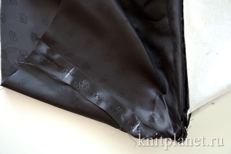 Вязаная сумка. Обработка подкладки