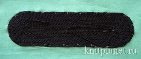 Донышко вязаной сумки