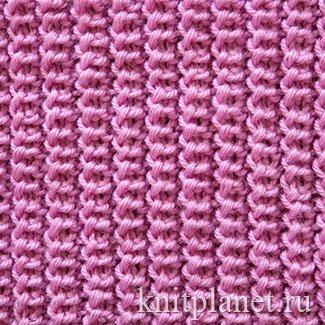 Схемы для вязания спицами резинки