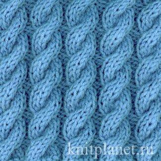 планета вязания узор восьмерка вязанный спицами и схема вязания