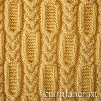 планета вязания узор коса 5 схема и описание вязания узора спицами