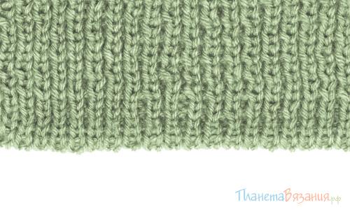 Набор начального ряда в вязании спицами