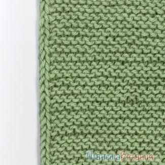 Утолщенный боковой край вязания