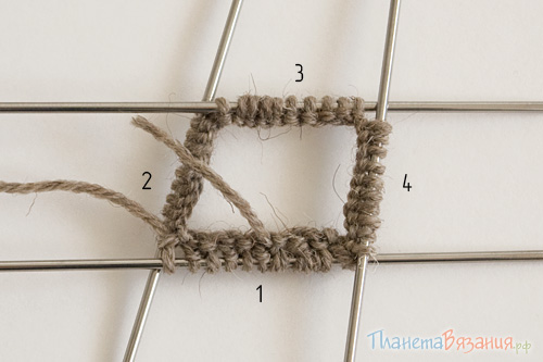 Вязание носков - набор петель