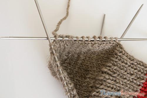 Вязание носка - набор петель