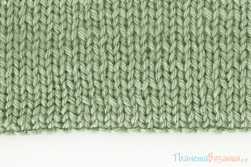 Подгибка низа вязаного изделия