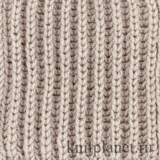 Фантазийная резинка спицами схема вязания