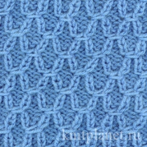 Узоры для вязания на толстых спицах 709