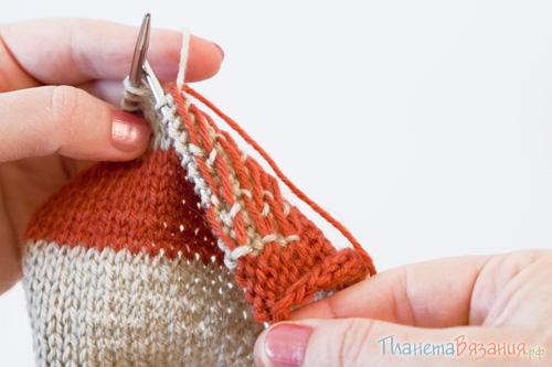 Вязание на спицах в две нити 23