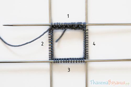 Вязание перчаток: нумерация спиц
