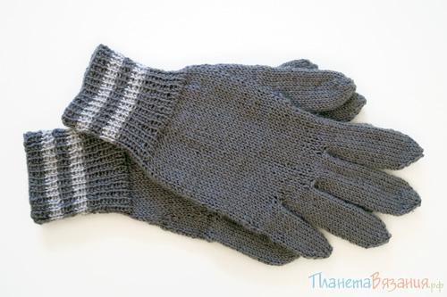 Вяжем спицами перчатки