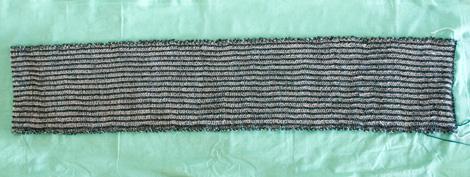 Влажная обработка - придаем шарфу форму