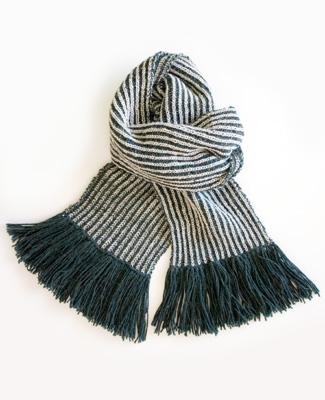 Полосатый шарф спицами
