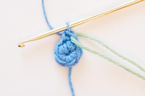 Вязание по кругу. Начальное кольцо.