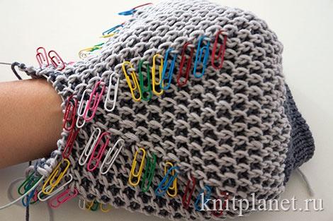 Вязание берета спицами. Убавление петель