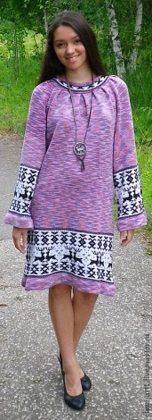 Светлана Турова. Вязаное платье с оленями