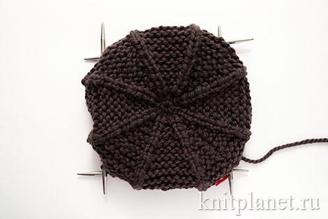 вязание мужской кепки
