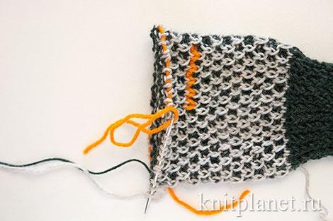 Как связать перчатки с узором Соты