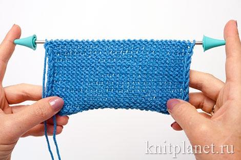 Уроки вязания спицами для начинающих, часть 6. Чулочная вязка, изнаночная сторона