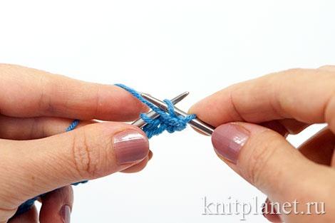 Уроки вязания спицами для начинающих, часть 7. Бабушкина изнаночная петля