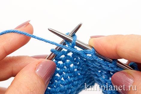 Уроки вязания спицами для начинающих, часть 8. Вязание скрещенной изнаночной петли