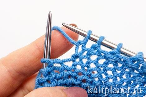 Уроки вязания спицами для начинающих, часть 8. Скрещенная изнаночная петля