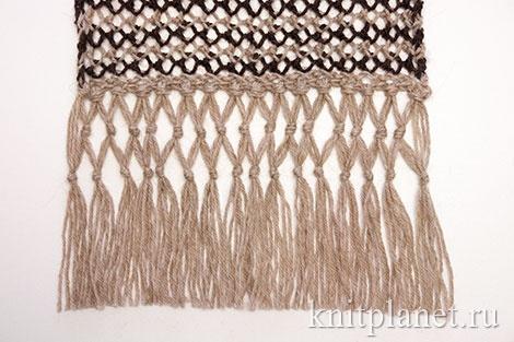 Как сделать бахрому для шарфа