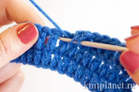Вязание столбиков крючком в арку