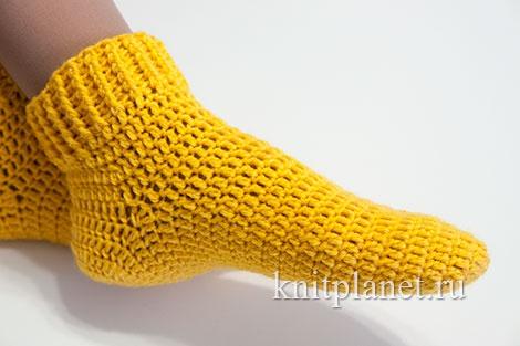 Видео вязать крючком носки