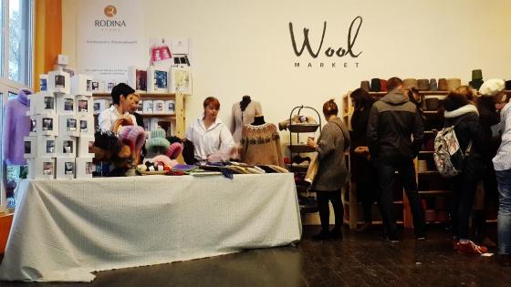 Елена Родина, производитель авторской пряжи на выставке Wool Market