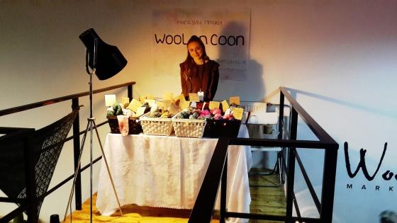 Анастасия на выставке Wool Market