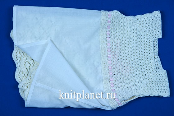 Как сделать подкладку для вязаного платья