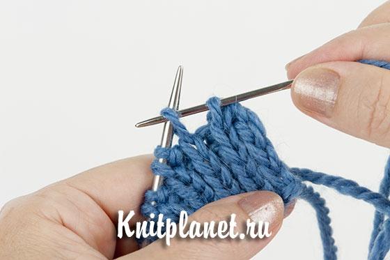 закрытие резинки иглой при круговом вязании